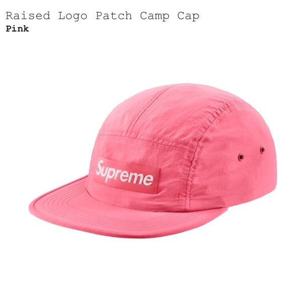 8d20183b Supreme Accessories | Raised Logo Patch Camp Cap Pink | Poshmark